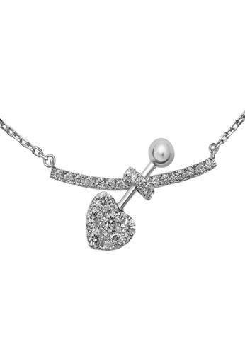 GOLDHEART GOLDHEART Necklace, Diamond White Gold 750 (N068108) 51AE7ACE3750A1GS_1