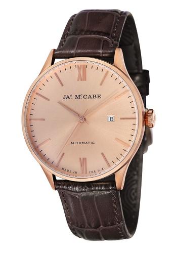 James McCabe 褐色 James Mccabe Men's Genuine Leather Strap Watch - JM-1025-06 CDF14ACB0AA9FAGS_1