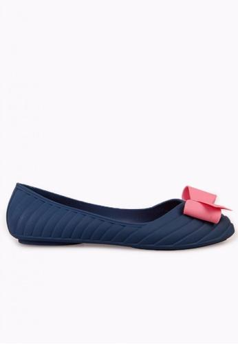 Sunnydaysweety blue 2017 New Hit Colour Bow PVC Flat Shoes C041208BL SU443SH48EYDHK_1