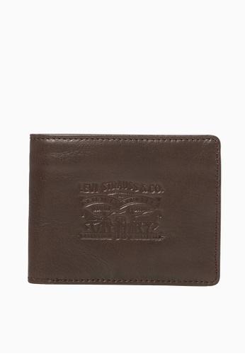 Levi's brown Levi's Denim/Leather Bifold Men (Brown) CC8BAAC924428AGS_1