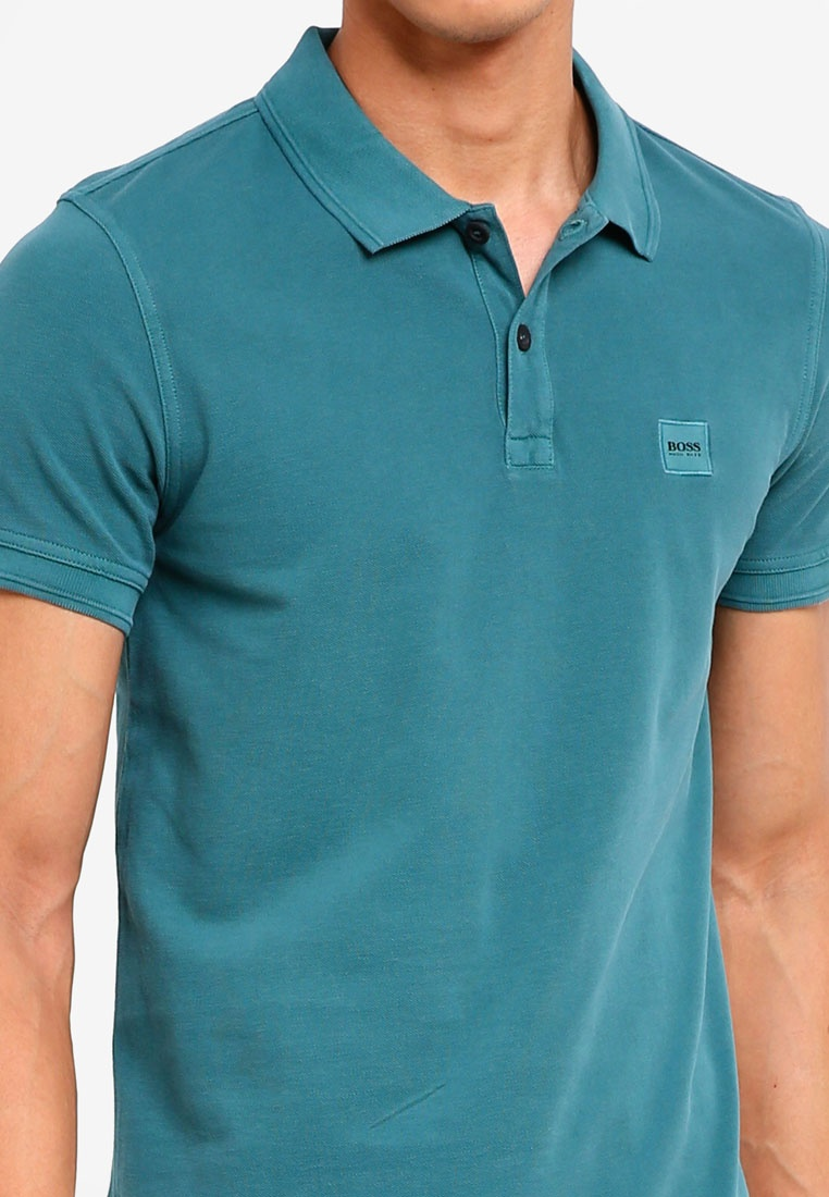 Green Prime Polo BOSS Casual Open Shirt Boss F8Hq8Z4w