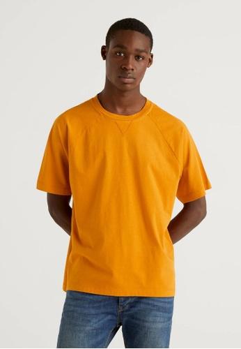 United Colors of Benetton yellow Raglan Sleeve T-shirt 9410BAA088D4C5GS_1
