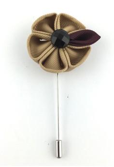 Light Beige Fabric Flower Lapel Pin. Get your Light Beige Fabric Flower Lapel Pin at...