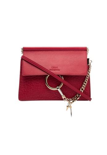 Chloé pink Chloe Faye Mini Chain Crossbody Bag in Fuchsia 2AF26AC01FB79EGS_1