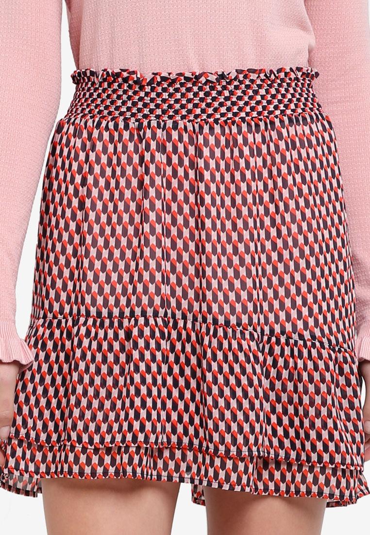 Harlem James Modstrom Square Print Skirt qAYxw
