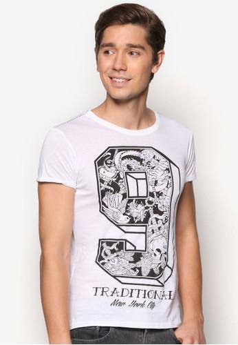 數字精緻TEE、 服飾、 T恤Alcott數字設計TEE最新折價