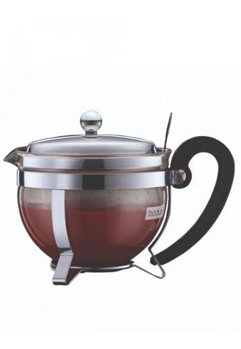 Bodum silver Chambord Tea Pot with Metal Lid and Filter A1145HLB0E7D0FGS_1