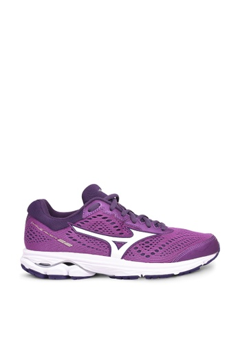 Mizuno purple Wave Rider 22 Running Shoes 608F8SHCAEB20EGS_1