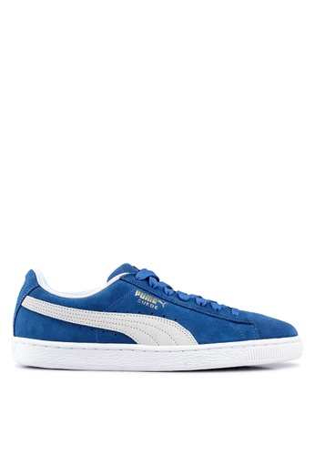 PUMA blue Sportstyle Prime Suede Classic+ Shoes 1B7EBSHADCBEFAGS_1