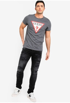 20% OFF Guess Guess Distressed Snakeskin-Panel Skinny Jeans RM 699.00 NOW  RM 558.90 Sizes 29 in 142e3bfb7a941