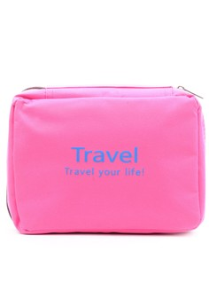 Travel Your Life Pouch Folding Waterproof Toiletry Kit Cosmetic Clutch