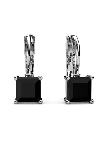 Her Jewellery silver Clip Square Earrings  - Made with premium grade crystals from Austria A2F65AC57926E8GS_1