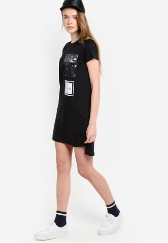 esprit 台北圓領短袖連身裙, 服飾, 洋裝
