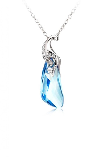 OUXI blue OUXI Necklace 10533 (Aquamarine) OU821AC20ONJMY_1