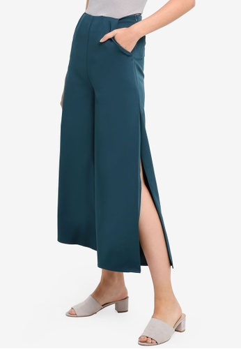 Something Borrowed green Eyelet Detail Cropped Pants 227FCAAD6AB9CBGS_1