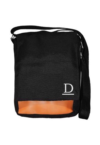 Myriad Print Concepts black Initial Sling Bag E69F3AC4C9888EGS_1