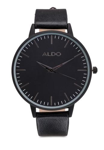 Vesprit台灣官網allebuona 皮革圓框手錶, 錶類, 女裝手錶