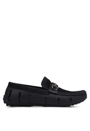 Knight black Mesh Loafers KN875SH0RX3QMY_1