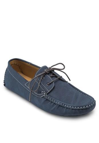 穿孔繫帶esprit台灣網頁圓頭船型鞋, 鞋, 船型鞋