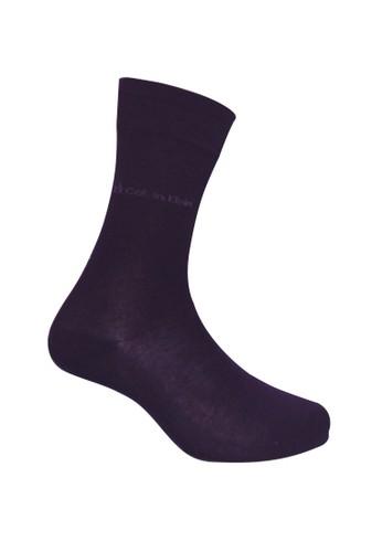 Calvin Klein Socks purple CALVIN KLEIN Business Men Sock Dress Flat Knit Crew 0A05FAAE5A59C7GS_1
