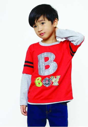 YEGE red YeGe T'shirt Anak Junior Reglan Polos AC1D7KA5A88068GS_1