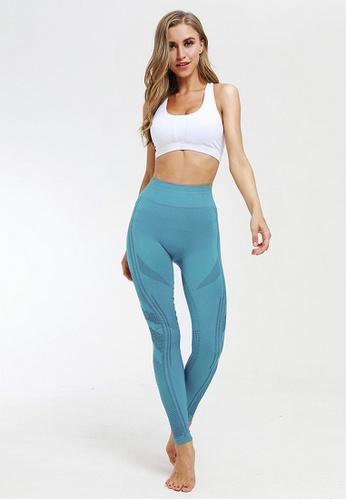 B-Code blue BYG9798 Lady Yoga Fitness Leggings  Blue DC2C7AA1587EFFGS_1