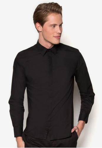 府綢長esprit outlet 桃園袖襯衫, 服飾, 襯衫