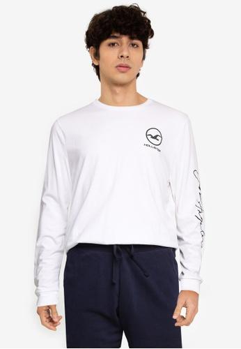 Hollister white Sport T-Shirt FB8FCAAB65C9B7GS_1