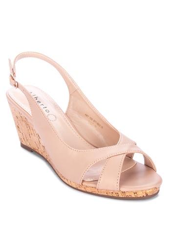 Alberto beige Slingback wedge sandals E9CA5SH77C9343GS_1