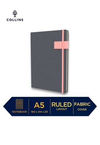 Collins pink Collins Gaia - Notebook A5 Ruled Pink 8A6BFHL07041ECGS_1