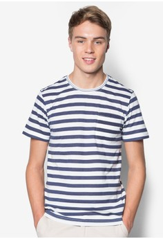 Stripe Tee With Neck Trim