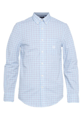 4dc486c9 CHAPS blue Chaps Classic-Fit Patterned Button-Down Shirt 9D4CFAAB93D0AAGS_1