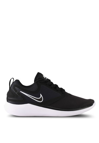 Nike black and white Men's Nike LunarSolo Running Shoes NI126SH0STT6MY_1