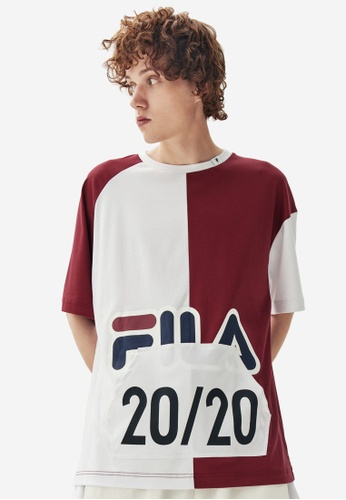 FILA red FILA × Maison MIHARA YASUHIRO FILA Logo Colour Blocks Cotton T-shirt A1932AAD209E23GS_1