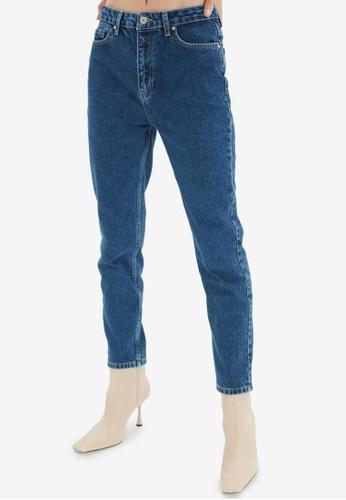 Trendyol blue High Waist Mom Jeans EE99FAA09F99F6GS_1