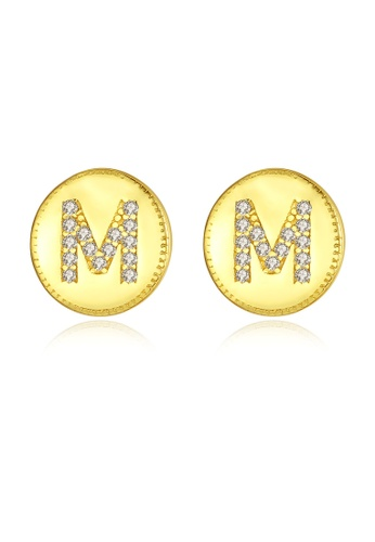 MATCH gold Premium Letter Earrings F7FB3ACE0136FAGS_1