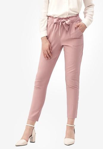 Kodz pink Tie Detail Culottes B64B3AA6DF7B9DGS_1