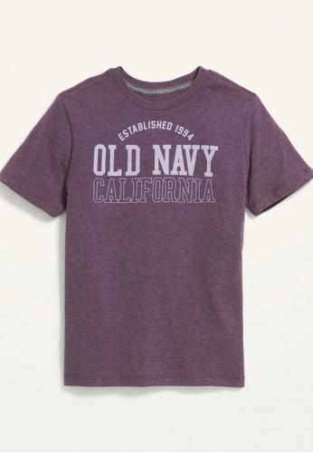 Old Navy purple Boys Short-Sleeve Logo-Graphic Tee D8758KA3CB0D22GS_1