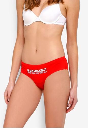 Undiz red Clincutiz Asobimiz Panties 857C2USA7D8818GS_1