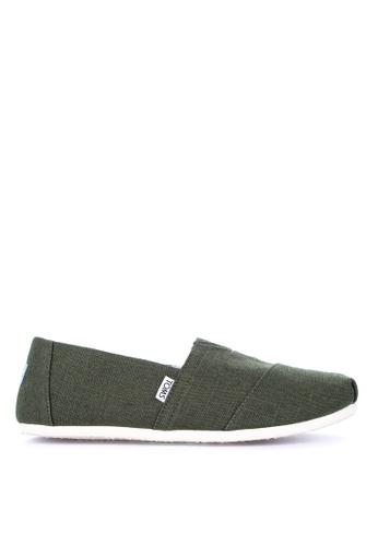 TOMS green Alpargata Slip-on D97C4SH141BF05GS_1