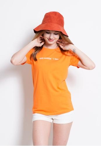 Fave orange Short Sleeve Graphic Tee F2BD7AA028CF16GS_1
