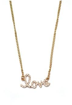 Rhinestoned Love Necklace