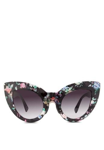 JP0322 印花貓眼太陽眼鏡, 飾品配件esprit台灣網頁, 飾品配件