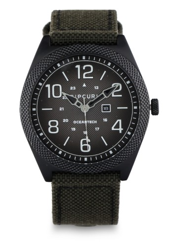 Rip Curl green Striker Midnight Nylon / Leather Watch 318ACAC49496A7GS_1