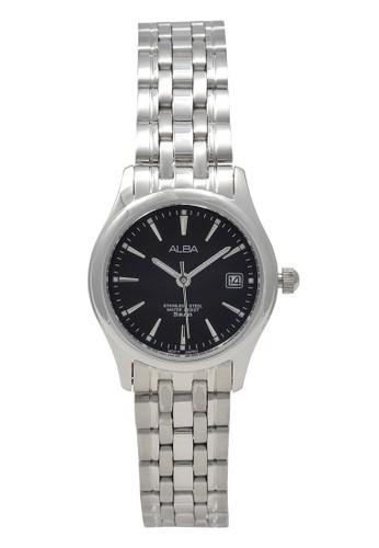 Alba silver ALBA Jam Tangan Wanita - Silver Black - Stainless Steel - AXT859 B5722ACC05192FGS_1