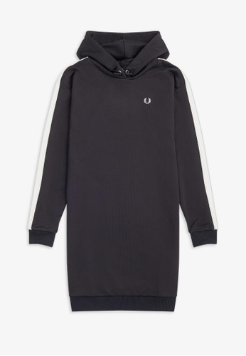 Fred Perry navy D9153 - Hooded Tricot Dress - (Navy) 40E99AA28DB03DGS_1