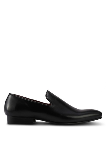 ACUTO black Leather Dress Shoes AC283SH0SL60MY_1