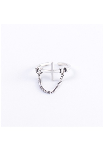 A-Excellence silver Premium S925 Sliver Geometric Ring A5549ACFA31D76GS_1