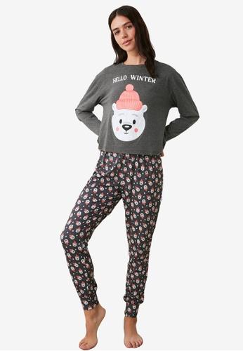 Trendyol multi Print Knit Pajamas Set C9319AAC0FD90DGS_1