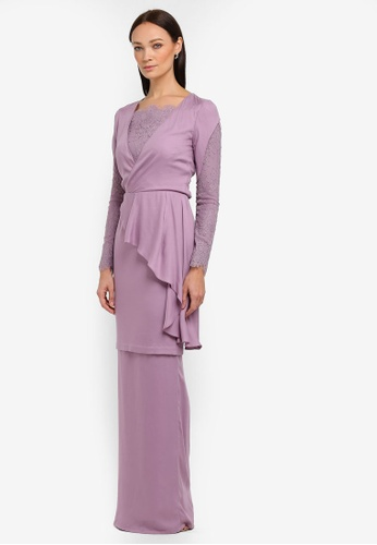 Isla Kurung Modern from NH by NURITA HARITH in Purple